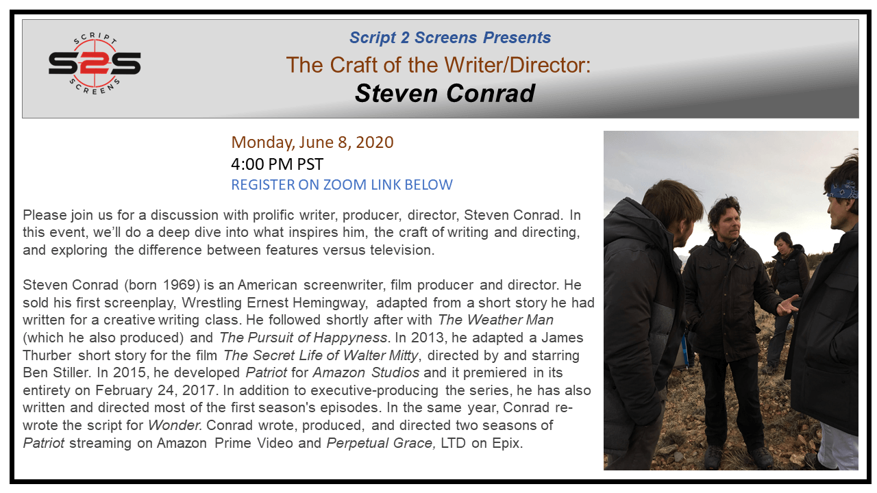 Steven Conrad Event